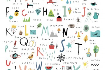 Английский алфавит с детскими рисунками