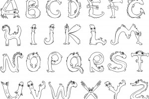 Английский алфавит раскраска