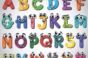 английский алфавит, рожицы