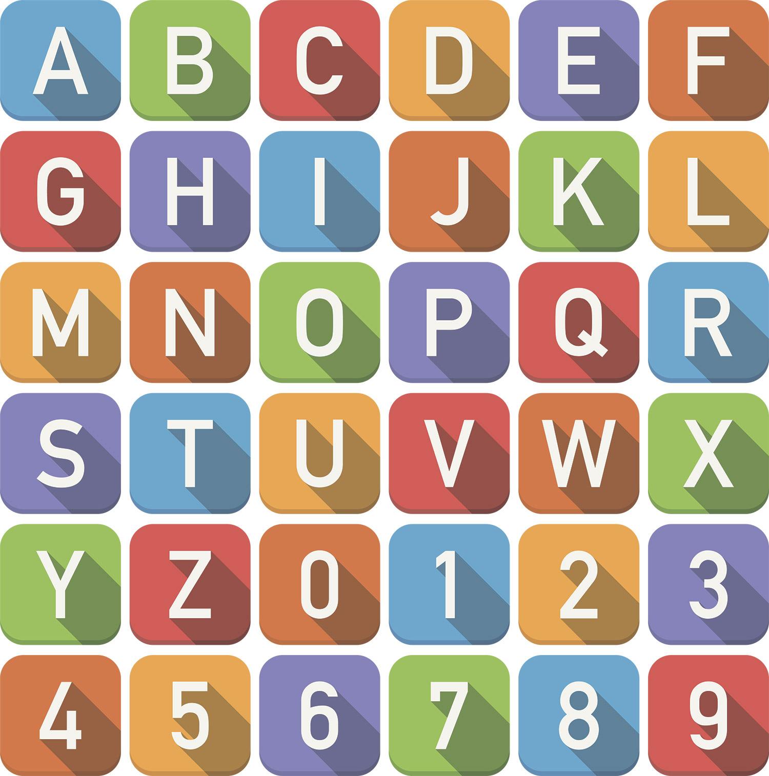 английский алфавит кубиками