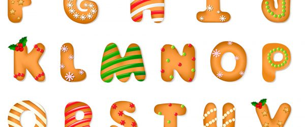 английский алфавит-печенье