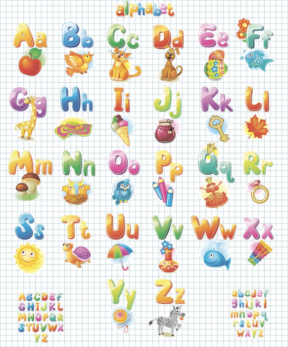 английский алфавит с картинками