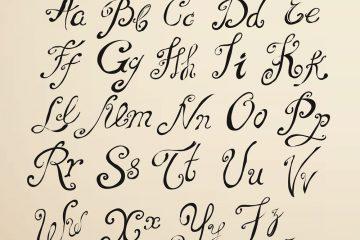 английский алфавит прописные буквы
