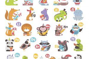 английский алфавит для детей с животными