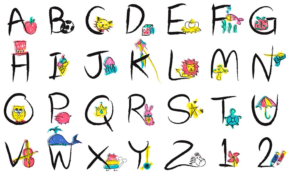 алфавит английский для детей распечатать